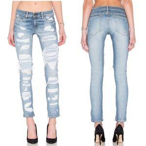 Rag & Bone Dre Boyfriend Jeans Brigade Distressed